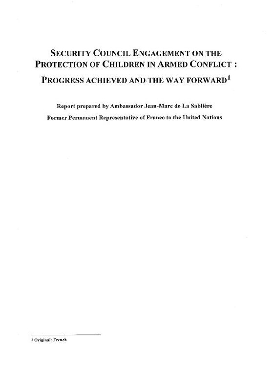 Security Council Engagement on the Protection of Children in Armed Conflict