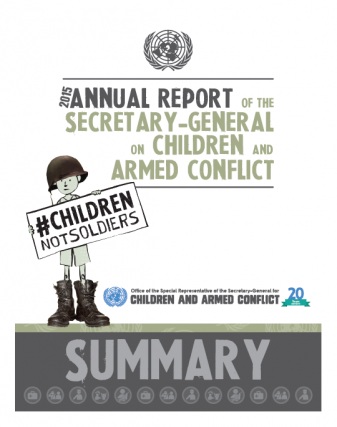 Click to read a summary of the Annual Report of the Secretary-General on children and armed conflict