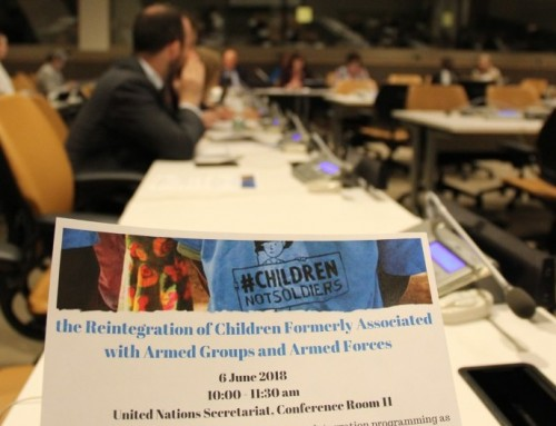 Side Event on Reintegration of children formerly associated with armed groups and armed forces