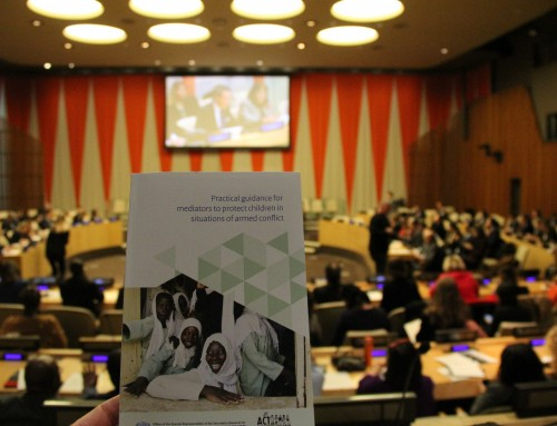 Statement of SRSG Virginia Gamba at high-level event to launch the Practical guidance for mediators