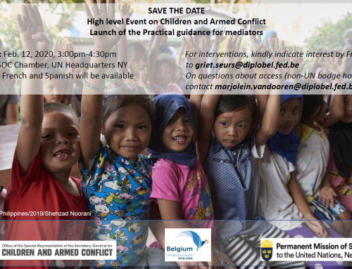 High level event – Launch of the Practical guidance for mediators to protect children in situations of armed conflict